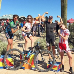 Show us your muscles, Ladies! McDowell Marathon Womein's Podium