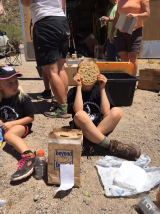 Rewarded with giant cookies! And a new trail!